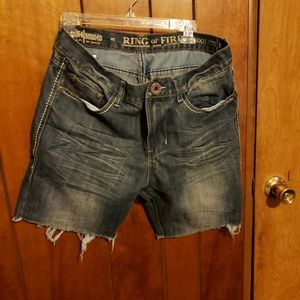 Ring of Fire Jean Shorts